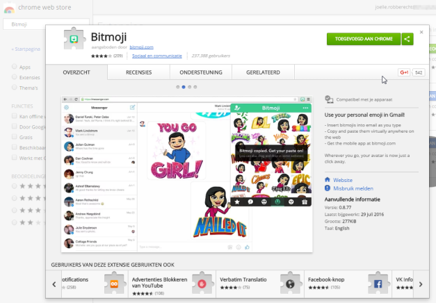 Google Docs en Bitmoji | Apps in de Les